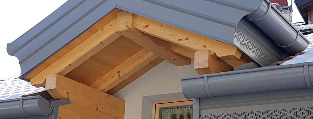 Tetti e carpenteria in legno - Case in legno in Valle di Ledro - Ledro Costruzioni